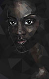 Alodie. Polygonal portrait of black woman Royalty Free Stock Photos