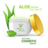 Aloe Βέρα Hand Cream Design Στοκ φωτογραφίες με δικαίωμα ελεύθερης χρήσης