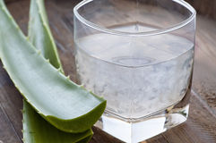 aloe ποτό Βέρα Στοκ Εικόνες