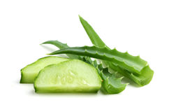 Free Aloe And Cucumber. Royalty Free Stock Photos - 44097058