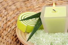Aloe bath salt Stock Photo
