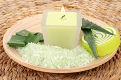 Aloe bath salt Stock Images