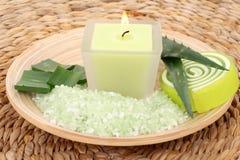 Aloe bath salt Stock Images