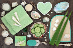Aloe and Cucumber Spa Treatment Stock Image