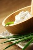 Aloe face cream. With fresh aloe - beauty treatment Stock Images