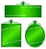 Aloe frame. Aloe Vera 100% white background frame Stock Illustration
