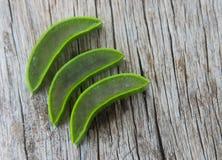 Aloe fresco vera su legno Fotografia Stock Libera da Diritti