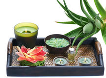 Aloe spa Stock Photography