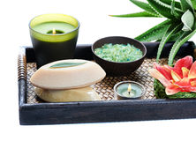 Aloe spa Stock Photo