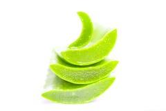 Aloe vera affettata Immagine Stock