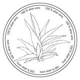 Aloe vera badge. Stock Images