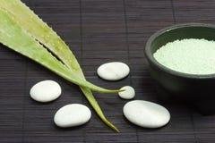 Aloe vera bath pearls Royalty Free Stock Image