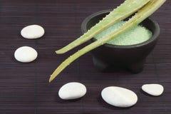 Aloe vera bath salts Stock Image