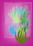 Aloe vera batik style Royalty Free Stock Photos
