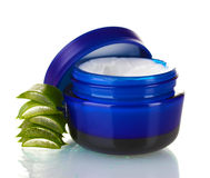 Aloe vera and cream Stock Image