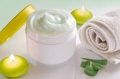 Aloe vera cream Stock Image