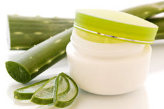 Aloe Vera Creme Stock Photography