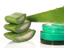 Aloe Vera Creme - nutrizione sana fotografie stock