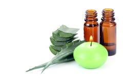 Aloe vera essential oil Stock Photography