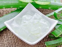 Aloe vera gel royalty free stock photography