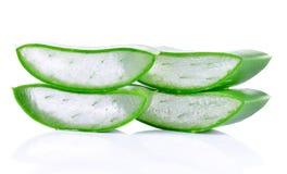 Aloe vera isolata su priorità bassa bianca Fotografie Stock Libere da Diritti