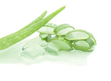 Aloe vera. Isolate on white background Royalty Free Stock Photography