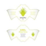 Aloe vera labels Stock Photo