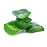 Aloe vera leaf and slices Royalty Free Stock Image