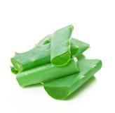 Aloe vera leaf and slices Stock Image