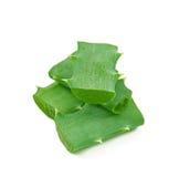 Aloe vera leaf and slices Royalty Free Stock Photo