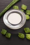 Aloe vera. leaves and cream Stock Photo