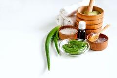 Aloe Vera per i trattamenti, il massaggio e la doccia della stazione termale Fotografie Stock