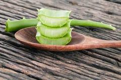 Aloe Vera slice natural spas ingredients for skin care . Royalty Free Stock Photos