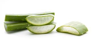 Aloe vera sliced isolated Stock Photos