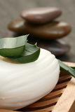 Aloe vera soap Stock Photo