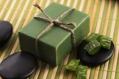 Aloe vera soap Stock Photo