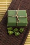 Aloe vera soap Royalty Free Stock Photos
