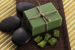 Aloe vera soap Stock Photography