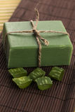 Aloe vera soap Royalty Free Stock Photo