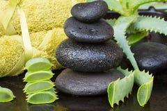 Aloe vera spa Stock Photos