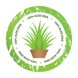 aloe vera stickers royalty free illustration