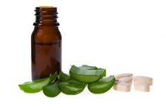 Aloe vera - terapia alternativa Fotografia Stock