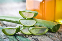 Aloe Vera use in spa for skin care Royalty Free Stock Photography
