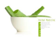 Aloe vera in white bowl Stock Photo