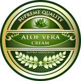 AloeVera Cream Natural Moisturizer Product etikett Stock Illustrationer