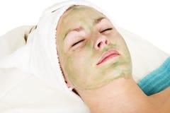 Aloevera-Gesichtsbehandlung Stockbild