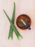 Aloevera - ingredienti naturali delle stazioni termali Immagini Stock