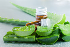 Aloevera - Natural Spas Ingredients. For skin care Royalty Free Stock Photos