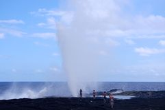 Alofaaga blowholes Zdjęcie Royalty Free