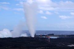 Alofaaga blåshål Fotografering för Bildbyråer